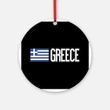 Greece: Greek Flag & Greece Round Ornament