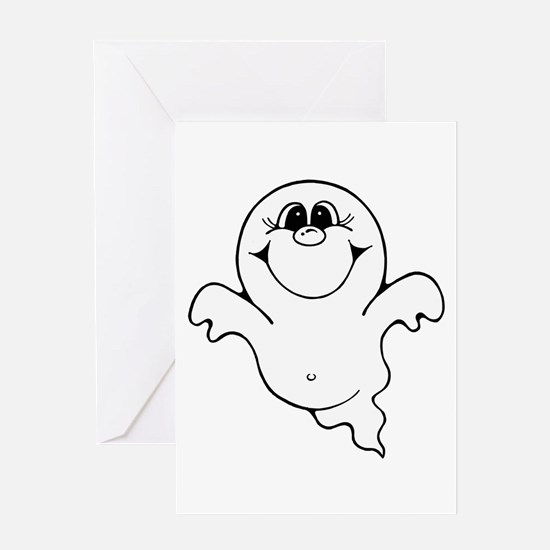CUTE LITTLE GHOST 1 Greeting Card