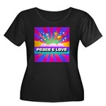 Psychedelic Peace & Love Women's Plus Size Scoop N