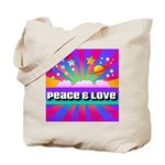 Psychedelic Peace & Love Tote Bag
