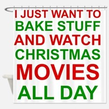 Cute Christmas movies Shower Curtain
