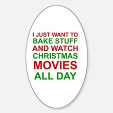 Cute Christmas movies Decal