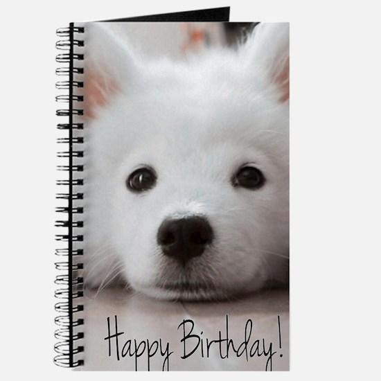 Happy Birthday Samoyed Puppy Journal