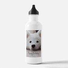 Happy Birthday Samoyed Sports Water Bottle