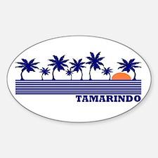 Tamarindo, Costa Rica Oval Decal