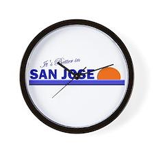 Its Better in San Jose, Costa Wall Clock