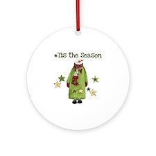 Snowman Tis the Season Ornament (Round)