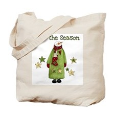 Snowman Tis the Season Tote Bag
