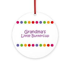 Grandma's Little Buttercup Ornament (Round)