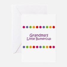 Grandma's Little Buttercup Greeting Cards (Pk of 1
