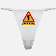 Electric Bass Player Caution Sign Classic Thong