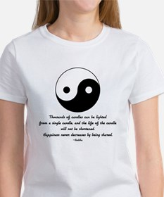 Buddha yin yang saying Tee