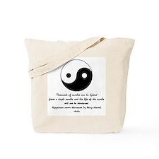 Buddha yin yang saying Tote Bag