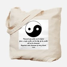 Buddha yin yang saying Tote Bag