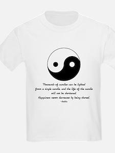 Buddha yin yang saying T-Shirt