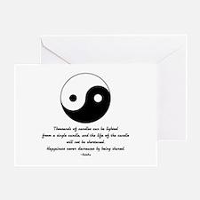 Buddha yin yang saying Greeting Card