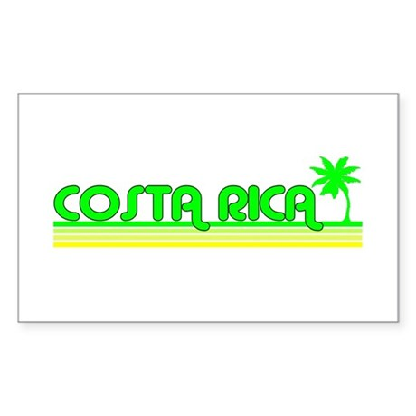 Costa Rica Rectangle Sticker
