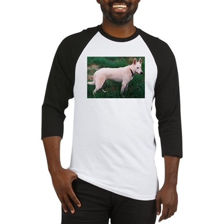 White German Shepherd Dog Baseball Jersey
