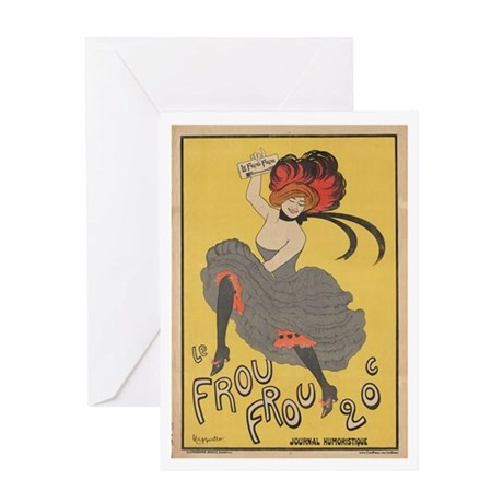 """""""Le Frou Frou"""" Greeting Card"""
