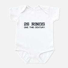 26 Rings. One This Century. Infant Bodysuit
