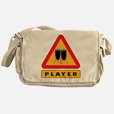 Conga Player Caution Sign Messenger Bag
