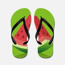 Watermelon Background Flip Flops