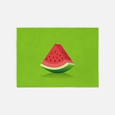 Watermelon Background 5'x7'Area Rug