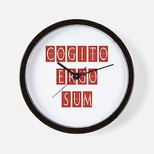 Cogito Ergo Sum Wall Clock