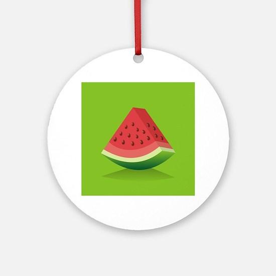 Watermelon Background Round Ornament