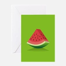Watermelon Background Greeting Cards