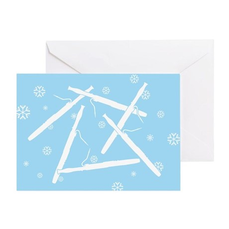 Bassoon Snowflakes Greeting Card