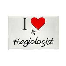 I Love My Hagiologist Rectangle Magnet