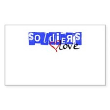 soldier's love Rectangle Decal