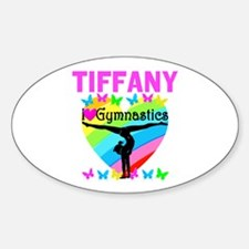 BEST GYMNAST Sticker (Oval)