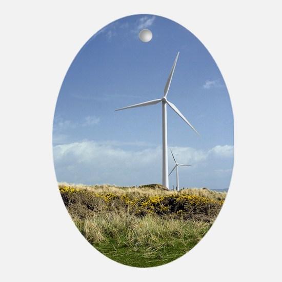 Wind Turbine Oval Ornament