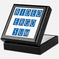 Rideo Ergo Sum Keepsake Box