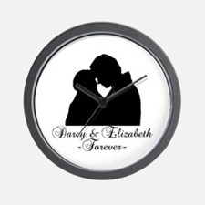 Darcy & Elizabeth Forever Silhouette Wall Clock