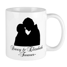 Darcy & Elizabeth Forever Silhouette Small Mug