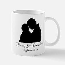 Darcy & Elizabeth Forever Silhouette Small Small Mug