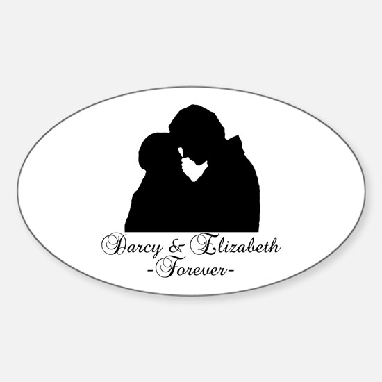Darcy & Elizabeth Forever Silhouette Decal