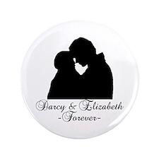 "Darcy & Elizabeth Forever Silhouette 3.5"" Button"