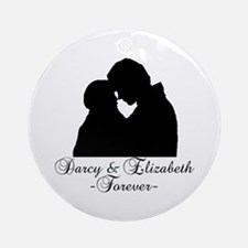 Darcy & Elizabeth Forever Silhouette Ornament (Rou