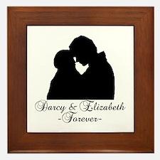Darcy & Elizabeth Forever Silhouette Framed Tile