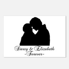 Darcy & Elizabeth Forever Silhouette Postcards (Pa