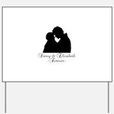 Darcy & Elizabeth Forever Silhouette Yard Sign