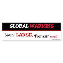 GW Livin' Large Bumper Bumper Sticker