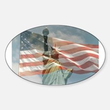 Flag and Statue of Liberty.jpg Decal