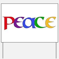 Rainbow Peace Letters Yard Sign