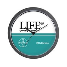 """""""Life, grossly overrated"""" Wall Clock"""