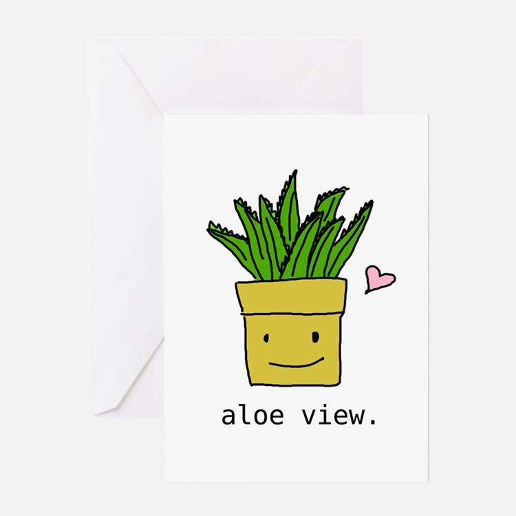 aloe view Greeting Card
